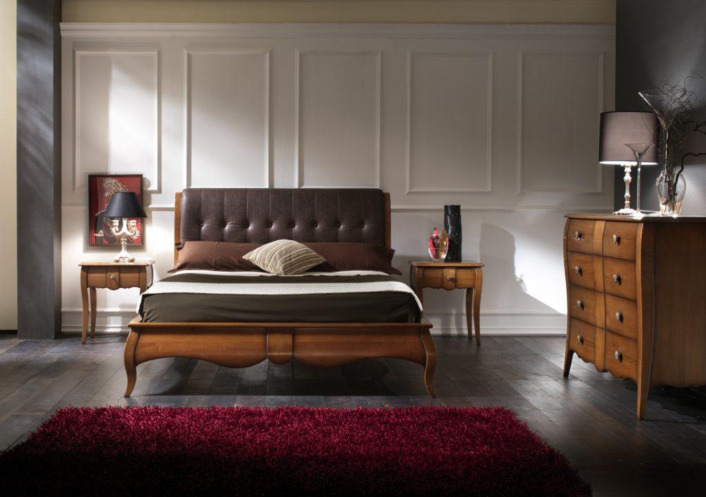 Camera 470 - Camera da letto in ciliegio e tiglio con ...